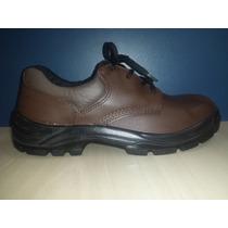 Sapato De Segurança Marrom, Bico Plástico Solado Bidensidade