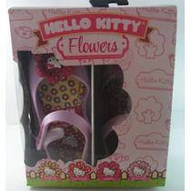Sandalia Infantil Hello Kitty Flowers Bebê Greendene Kids