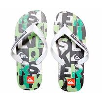 Calçados Masculino Chinelo Da Quiksilver Verde Oferta !!!
