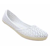 Sapatos Calcado Sandália Sapatilha Tipo Melissa Branca