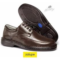 Sapato Social Casual Antistress Couro Café Ref. 0761