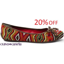 20% Off Sapatilha Cravo & Canela Étnica Nobuck - 99809
