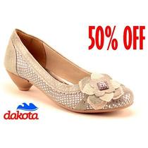20%off Sapato Dakota Conforto Couro Preto Bege B3013 B3015