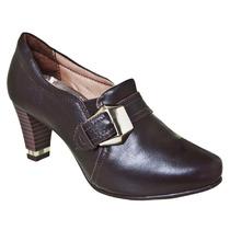 Sapato Feminino Comfortflex 1478305 Café