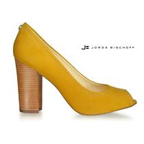 Peep Toe Amarelo Jorge Bischoff Tamanhos 38 E 40
