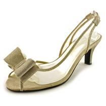 Caparros Verão Mulheres Peep Toe Heel Synthetic Slingback
