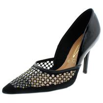 Sapato Feminino Salto Alto Scarpin Verniz/preto Tc