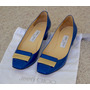 Sapato Jimmy Choo Original Em Verniz Azul
