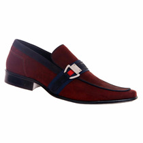 Sapato Social Masculino Gofer Couro Nobuck Legítimo 0278