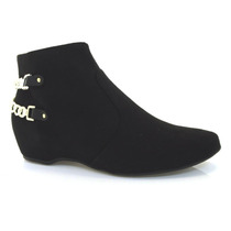 Bota Feminina Ankle Boot Vizzano Salto Baixo