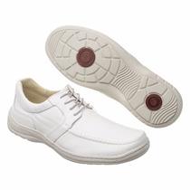 Sapato Branco Linha Confort Medico Couro Legitimo Promoção