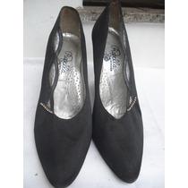 Sapato De Festa Em Cetim C/ Strass Nº 38