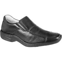 Sapato Antistress Social Conforto Macio Leve Pelica Marrom