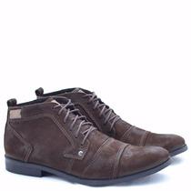Sapato / Bota Masculina Casual Couro. Sapato Cano Alto