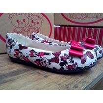Sapatilhas Minnie Mickey Calçado Sapato Presente Infantil!