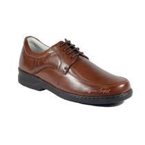 Sapato Masculino Couro Pelica Carneiro P Pes Diabeticos