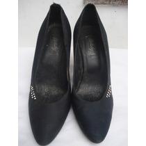 Sapato De Festa Em Cetim C/ Strass Nº 37
