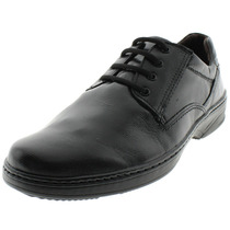 Sapato Masculino Social Com Cadarço Preto - 21202 Pegada