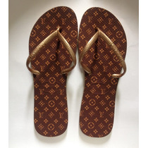 Chinelo Havaianas Flat Sandália Personalizados Louis Vuiton