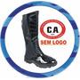 Bota ( C A) Cano Longo S/ Logo Padrão Militar Couro Legítimo