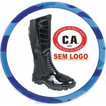 Bota ( C A) Cano Longo S/ Logo Padrão Militar *12x S/ Juros*