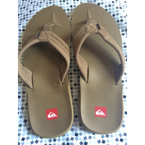 Chinelo Quiksilver - Marrom - Tam. 10