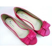 Peep Toe Pink Com Laço