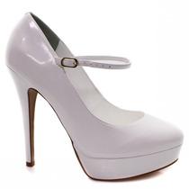 Sapato De Noiva Branco Scarpin Fivela Zariff Shoes