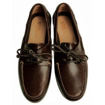 Sapato Masculino Couro 44 Mocassim Dockside Couro Noir Le Li