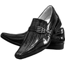 Sapato Masculino Verniz Stilo Samello/rafarillo 100% Couro