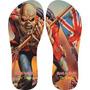 Chinelos Personalizados Iron Maiden Estampas De Rock E Metal