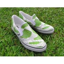 Tênis Sneaker Sapatênis Cabos Hdmi Usb Verde Geek Vans