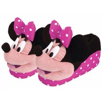 Pantufa Pelúcia Infantil Minnie Disney Rosa Ricsen Original