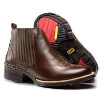 Bota Botina Masculina Texana Country Couro Capelli Boots