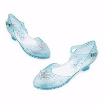 Sapato Elsa Frozen Salto Que Acende Luz Ao Caminhar Tam 21