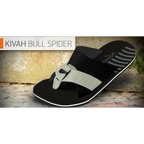 Chinelo Kenner Kivah Spider Original Couro Trançado