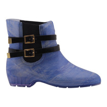 Bota Galocha Cano Curto Jeans Fivela 36363 Frete Grátis