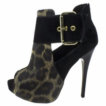 Sapato Feminino Salto Alto Onça Pronta Entrega On Line M0006