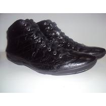 Abotinado Coturno Bota Sapatênis Sapato Masculino Couro