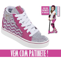 Tênis Botinha Barbie Fever Vem Com Patinete 21330