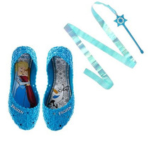 Sapatilha Frozen Infantil Grendene Kids Let It Go Azul +nf