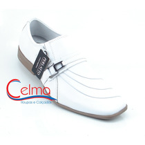 8107b Sapato Branco Para Médico, Couro Legítimo - Perlatto