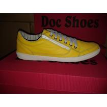 Tenis Casual De Couro Masculino Doc Shoes