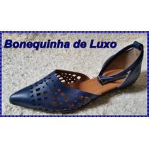 Sapatilha Salomé Fechada Bico Fino - Azul - Frete Grátis