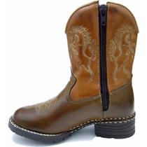 Bota Country Masculina Infantil Kids Texana Rodeio Peao