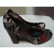 Sapato Ferrucci Bico Redondo Salto Grosso - Tamanho 37