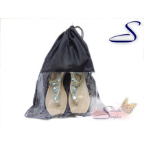 Saco Saquinho Sapato Calçado Em Tnt Com Visor Transp 10 Unid