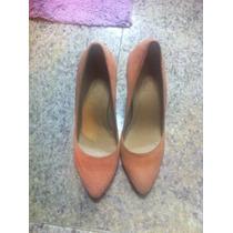 Sapato Scapin Salmao Tam 37 Camurca Lindo Quase Novo