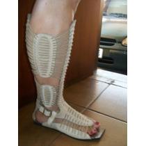 Sandália Gladiadora Em Couro