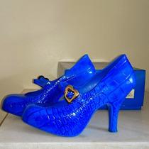 Melissa Vivienne Westwood Mary Jane Croco 36 Azul Linda